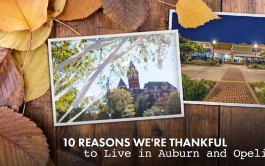 thankful to live in Auburn and Opelika