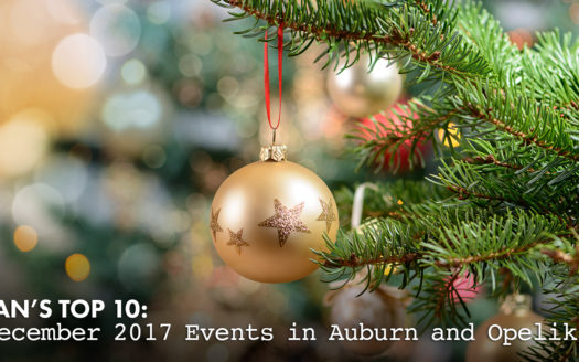 December 2017 events in Auburn and Opelika