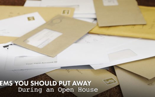 items you should put away during an open house