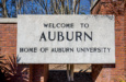 Auburn Welcome Sign