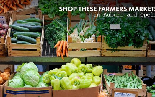 farmers markets in Auburn and Opelika
