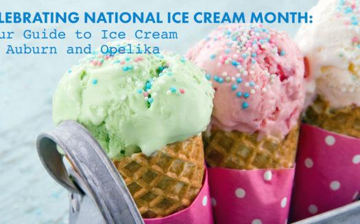 ice cream in Auburn and Opelika