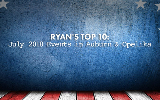 July 2018 events in Auburn and Opelika