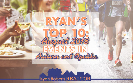 August 2018 Events in Auburn and Opelika