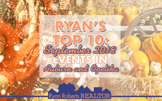 September 2018 Events in Auburn and Opelika