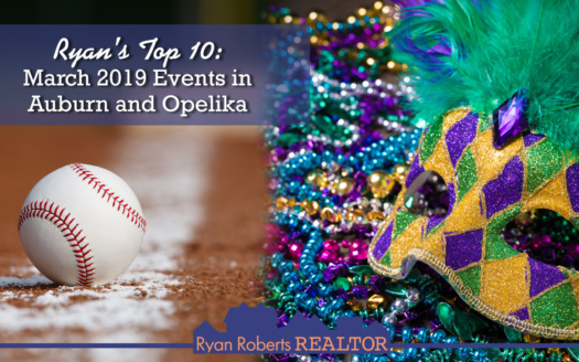 March 2019 events in Auburn and Opelika
