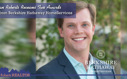 Ryan Roberts recently received two awards from Berkshire Hathaway HomeServices