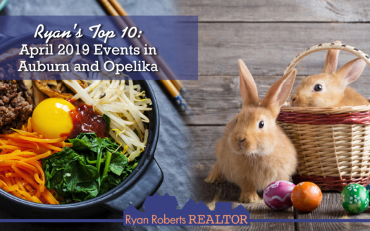 April 2019 events in Auburn and Opelika