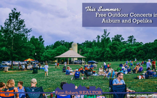 free outdoor concerts in Auburn and Opelika