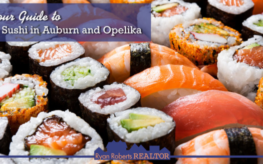 guide to sushi in Auburn and Opelika