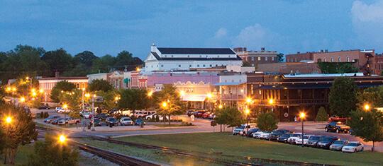 Photo of historic Downtown Opelika.