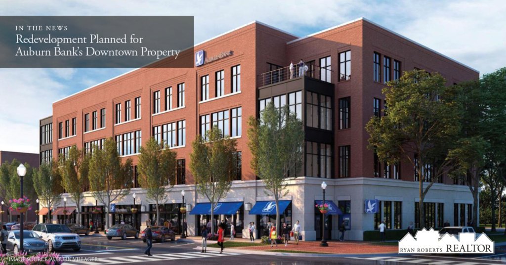 Redevelopment Planned for Auburn Bank's Downtown