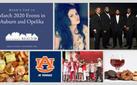 March 2020 Events in Auburn and Opelika
