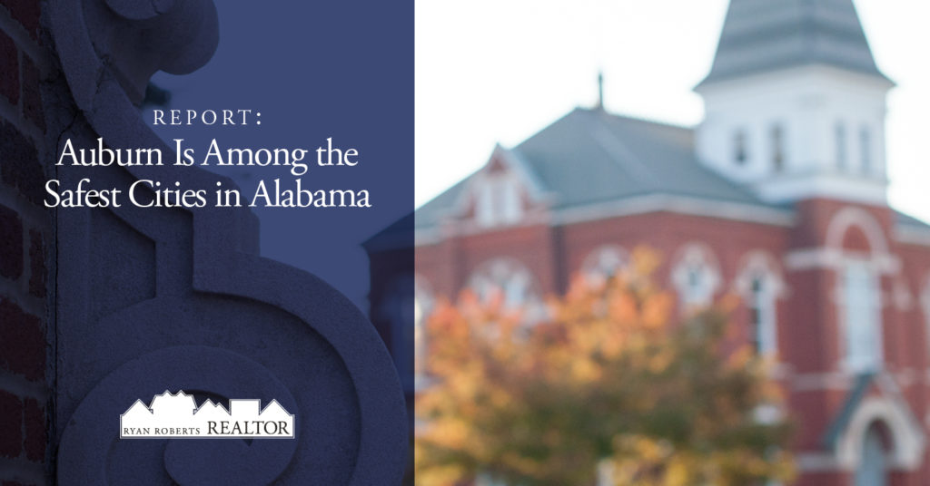 Auburn is among the safest cities in Alabama