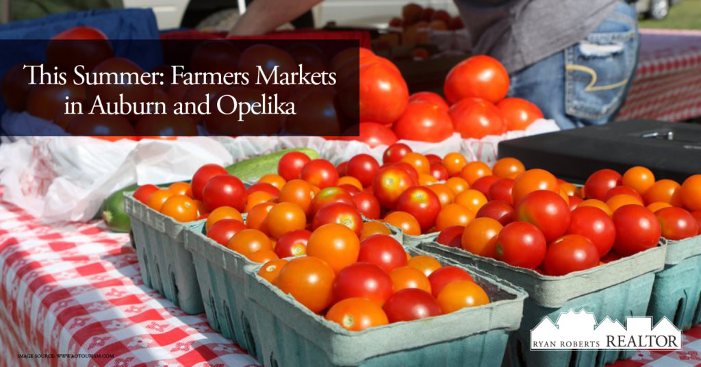 Farmers Markets in Auburn and Opelika