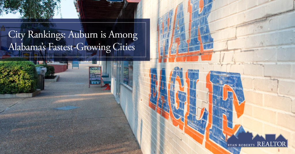 Auburn is among Alabama's fastest-growing cities