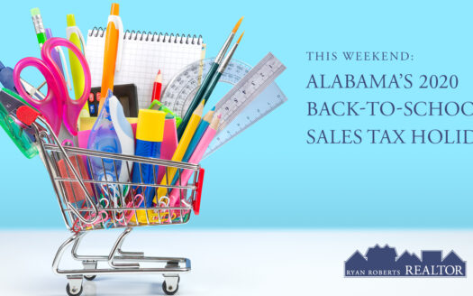 Alabama's 2020 Back-to-School Sales Tax Holiday