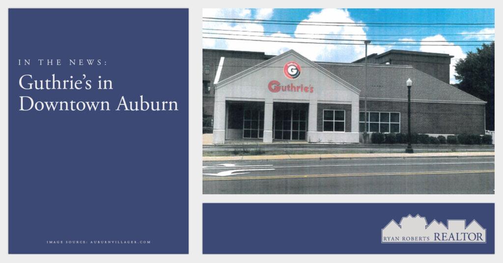 Guthrie's in Downtown Auburn