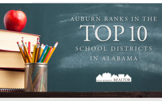 Auburn ranks in the Top 10 School Districts in Alabama