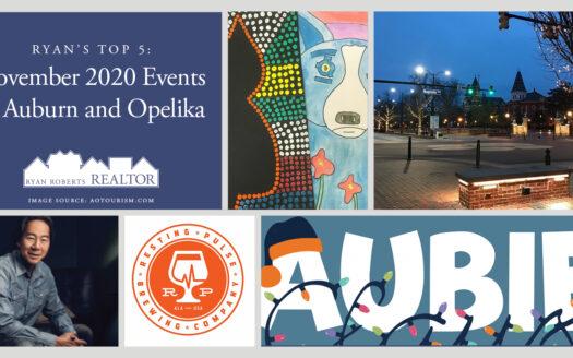 November 2020 events in Auburn and Opelika
