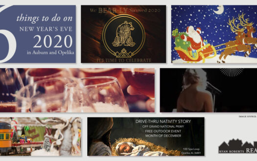 things to do on New Year's Eve 2020 in Auburn and Opelika