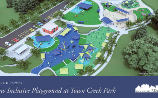 new inclusive playground at Town Creek Park
