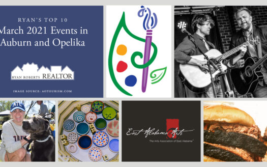 March 2021 Events in Auburn and Opelika