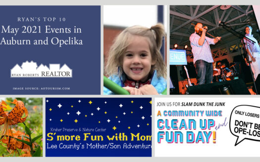 May 2021 Events in Auburn and Opelika