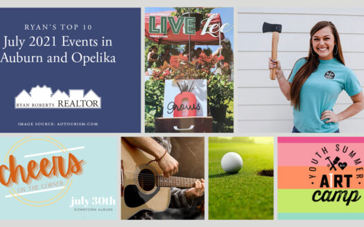 July 2021 Events in Auburn and Opelika