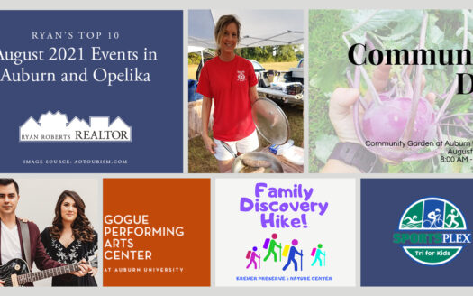 August 2021 Events in Auburn and Opelika