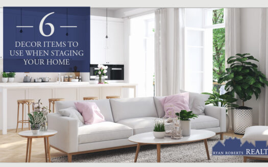 decor items to use when staging your home