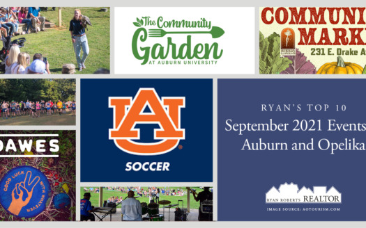 September 2021 Events in Auburn and Opelika