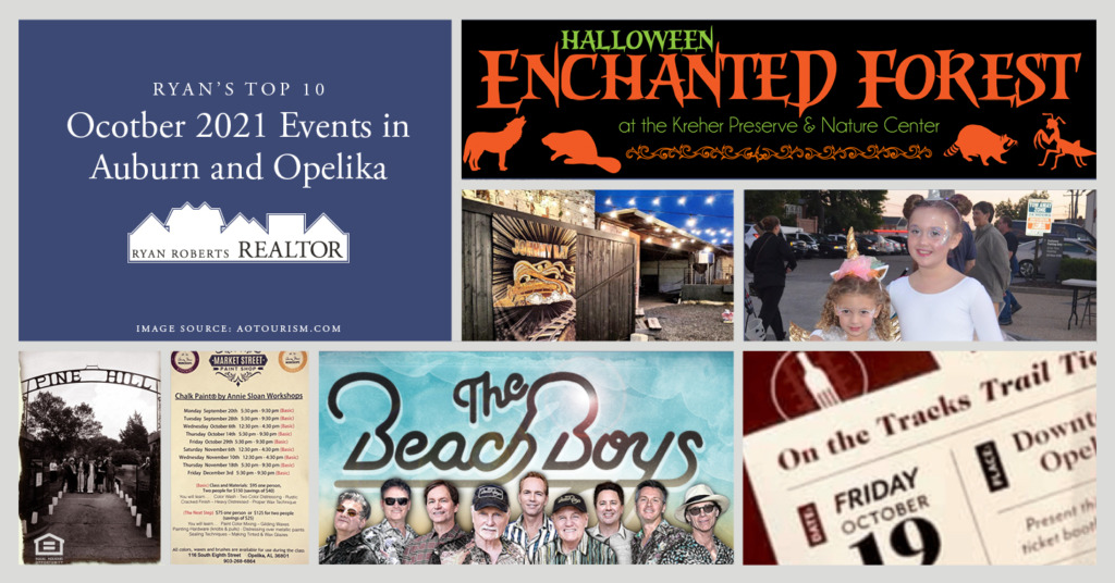 October 2021 Events in Auburn and Opelika